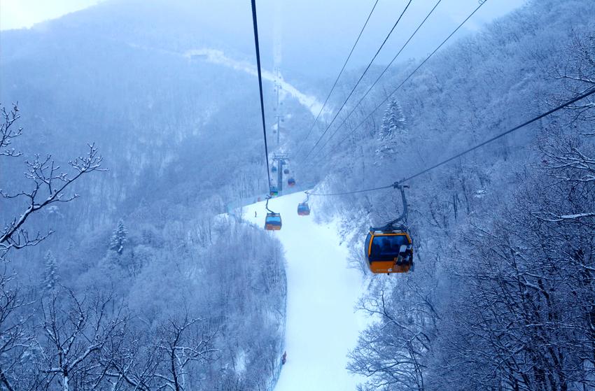 Зимние пейзажи курорта Ёнпхён