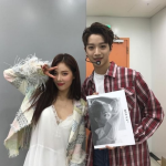 <strong>Hyuna Poses With Same Agency′s Wanna One Lai Kuan Lin</strong> image