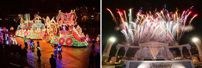 Fuegos artificiales y el Carnaval de Everland (cortesía de Everland)