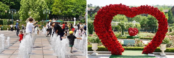 Jardín Four Seasons y el Jardín de la Rosas (cortesía de Everland)