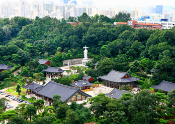 Vue du temple Bongeunsa