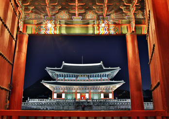 Gyeongbokgung Palace by night