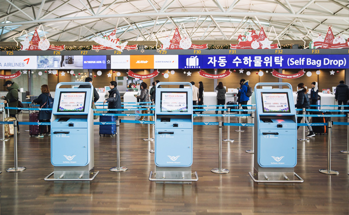Self Check-in kiosks & Self Bag Drop service