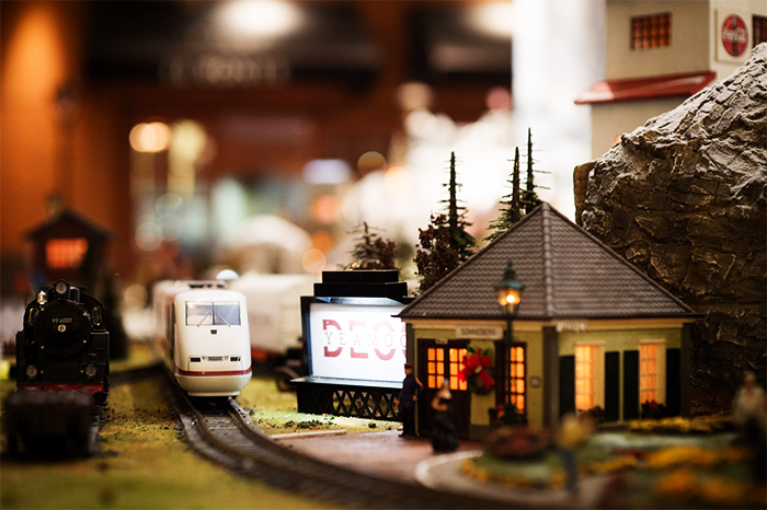 Model train village display (Credit: Millennium Seoul Hilton)