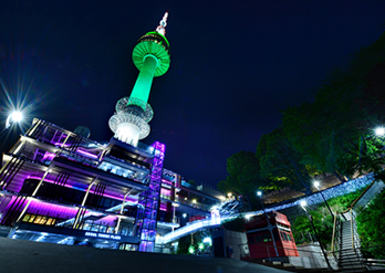 Photo: Seoul's night landscape viewed from Namsan Seoul Tower