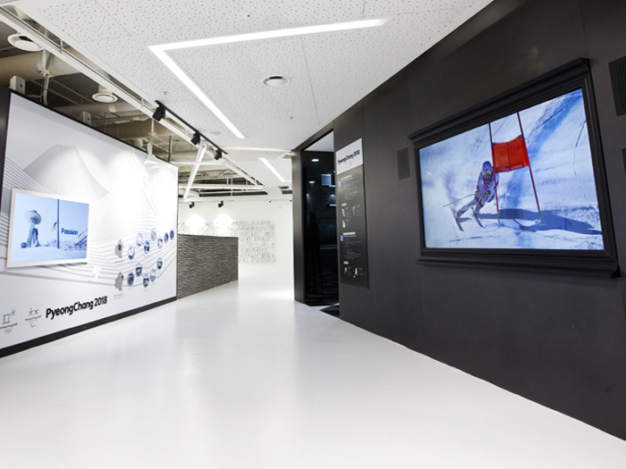 PyeongChang Olympic Promotion Hall offers information about the PyeongChang Olympics via an image wall and videos.