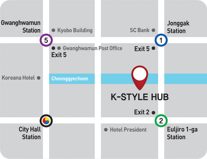 map of K-style Hub