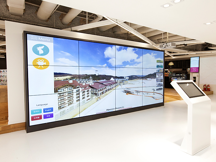 360-View Media Wall offers 360-degree panoramic view experiences at 50 major tourist attractions in Korea.