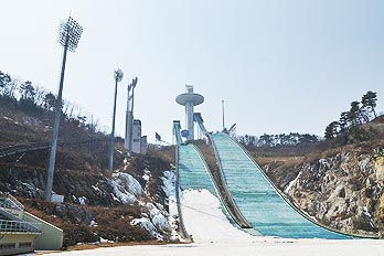 韓国最高のスキージャンプ台
