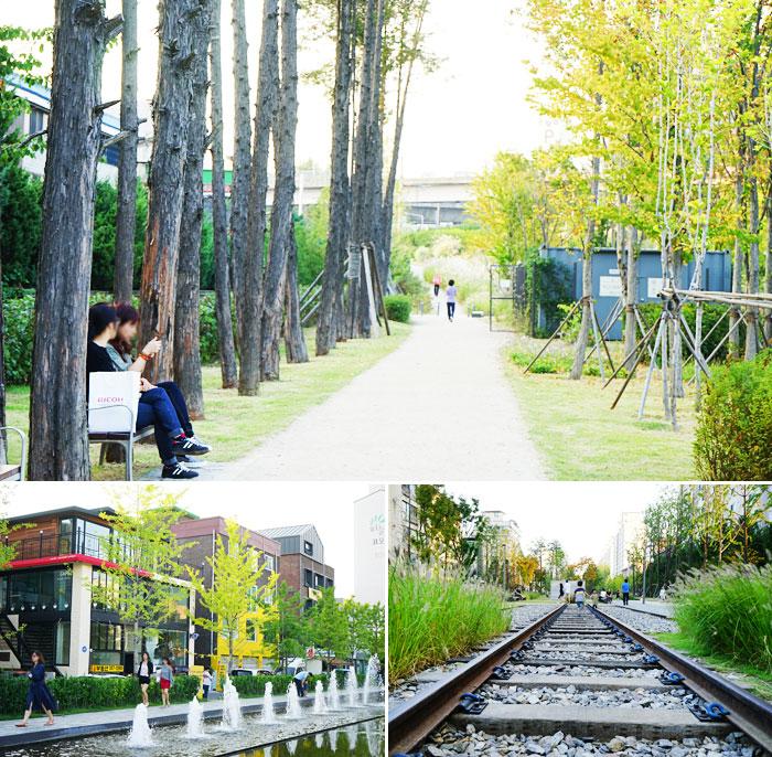 利用廢棄鐵路改造而成的京義線林蔭步道