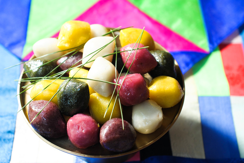 <em />Songpyeon</em> (arriba) / <em>Jeon</em> y licores tradicionales (abajo)