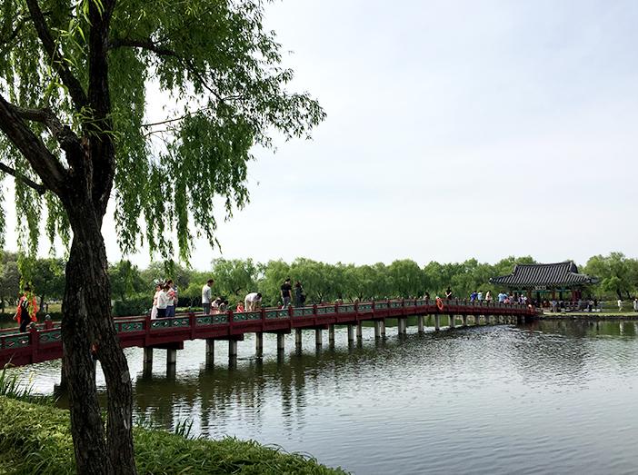 2019-20韓国観光100選にも選ばれた宮南池(2019年5月撮影)