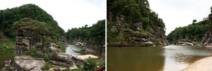 孤石亭と漢灘江