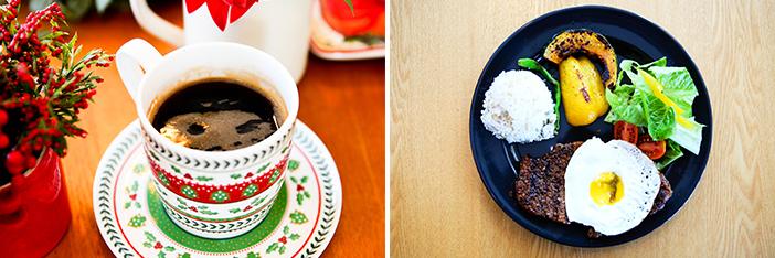 Pain organique à la levure, café et brunch