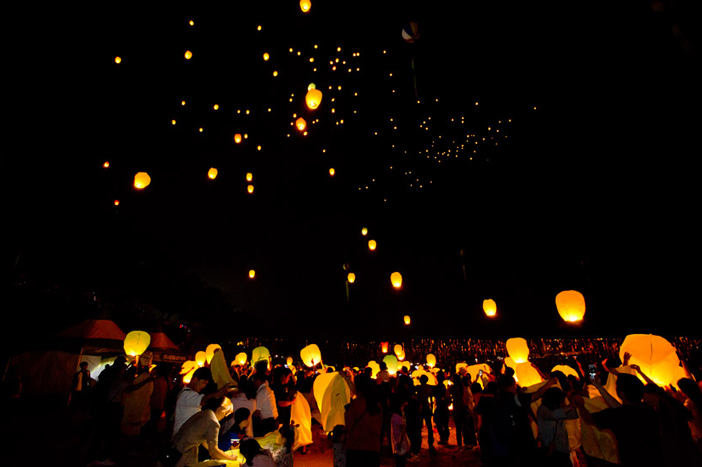 Floating lanterns at Muju Firefly Festival (Credit: Muju Firefly Festival Organizing Committee)
