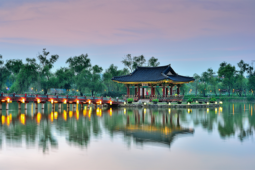 Korea's first man-made pond, Gungnamji Pond