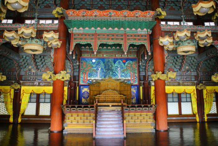 仁政殿内部(写真提供:文化財庁)