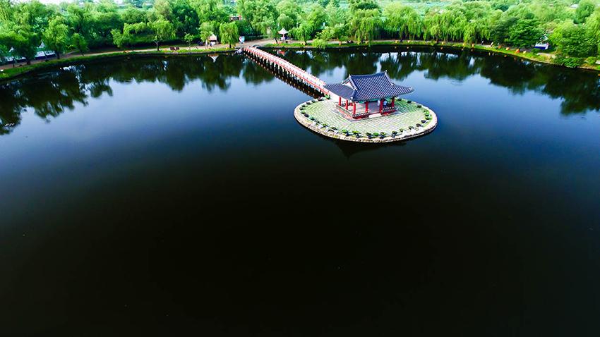 宮南池(圖片來源: 扶餘薯童蓮花節促進委員會)