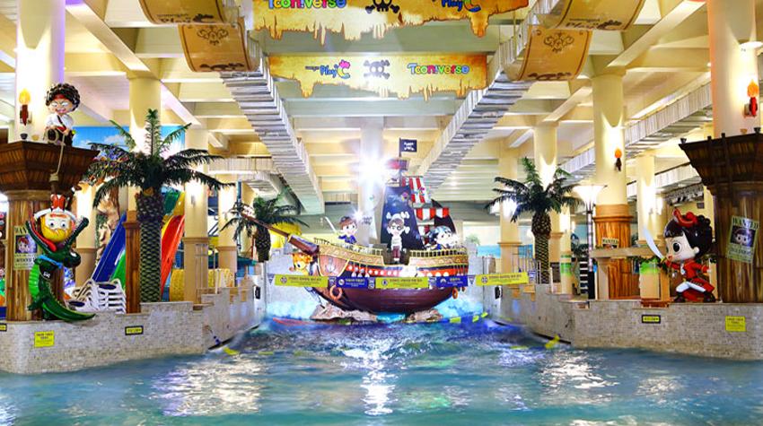 Аквагородок в развлекательном комплексе Woongjin Playdoci (Источник: Woongjin Playdoci)