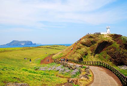 Vista panorámica de Seopjikoji (izquierda)