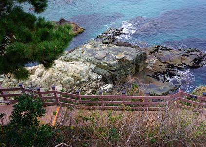 二妓臺都市自然公園中的海岸散步道