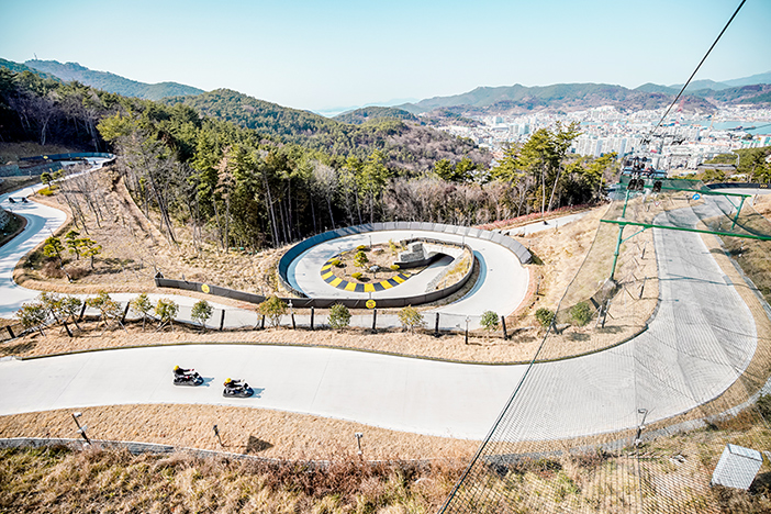Skyline Luge in Tongyeong