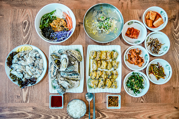 Dishes using Tongyeong oysters