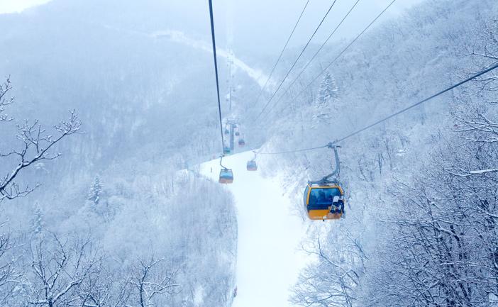 龍平リゾートスキー場の雪景色