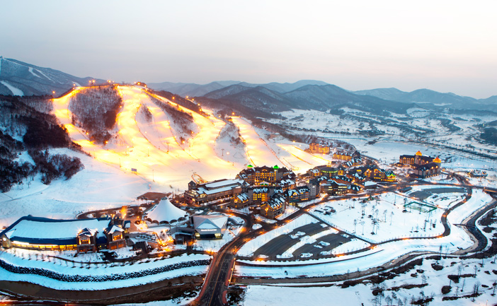Landscape view of Alpensia Ski Resort