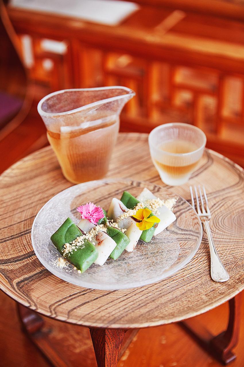 Petit encas façon tradition dans un hanok