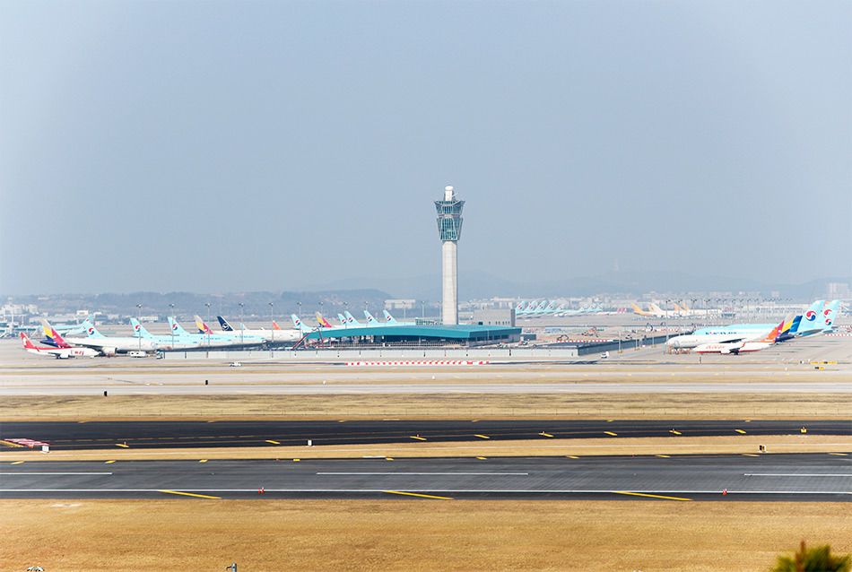 View of Incheon International Airport from Oseongsan Observatory (Credit: Incheon International Airport)