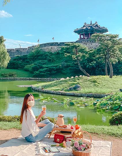 Pique-nique à Banghwasuryujeong