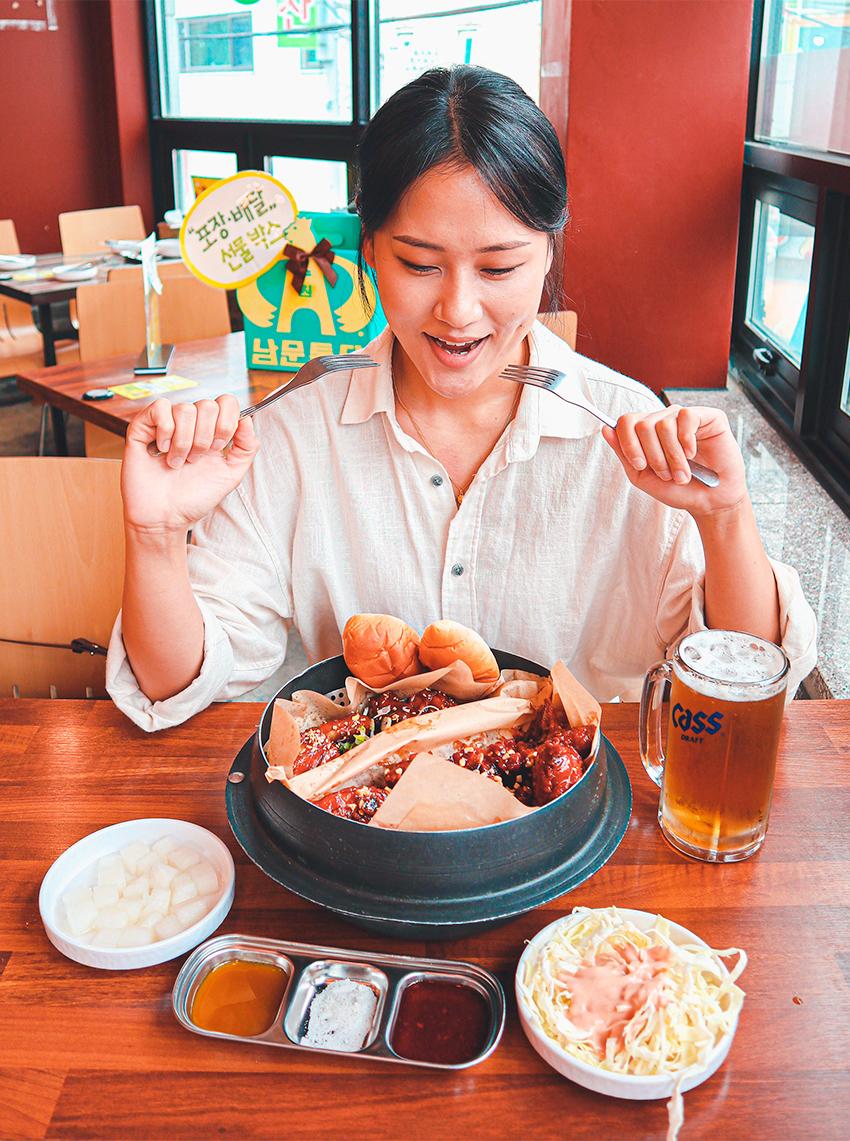Menu Half-Half Chicken, restaurant Nammun Chicken