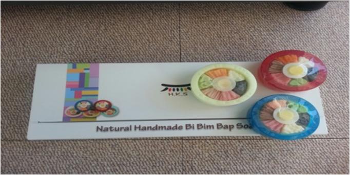 Natural Soap in a Bibimbap Design