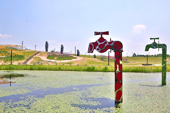 坡州臨津閣国民観光地(上段)、坡州・烏頭山統一展望台(下段左)、漣川・ハーブビレッジ(下段右)