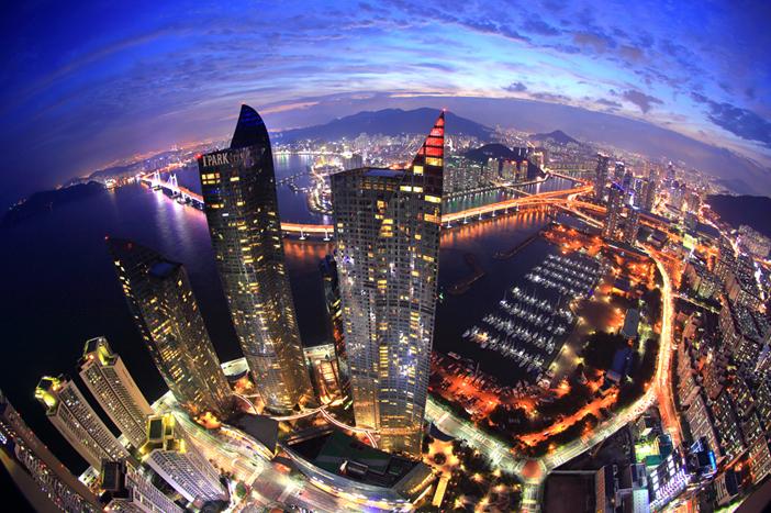 Busan bei Nacht