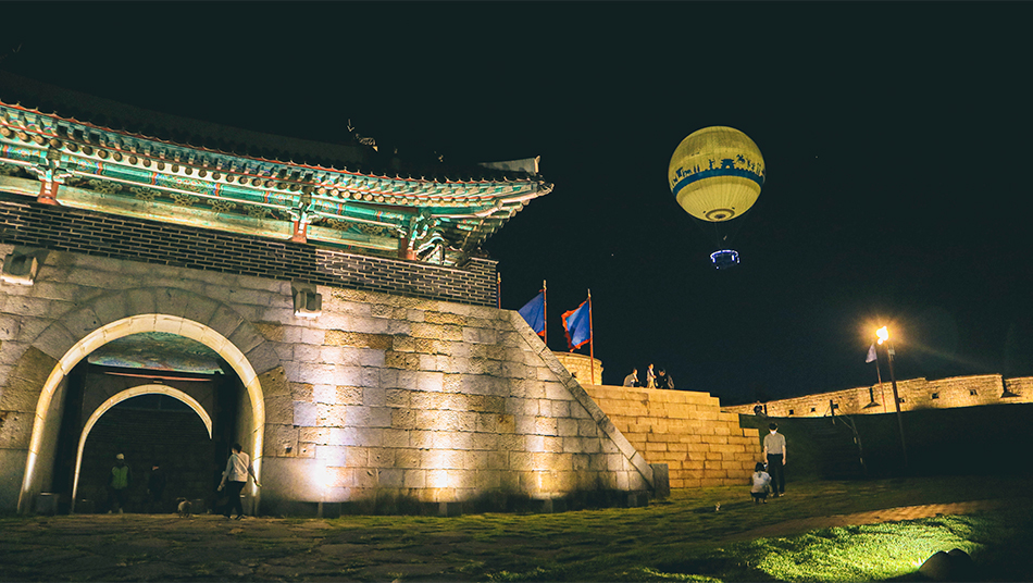蒼龍門とフライング水原の熱気球
