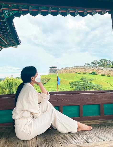 訪花随柳亭から眺める風景