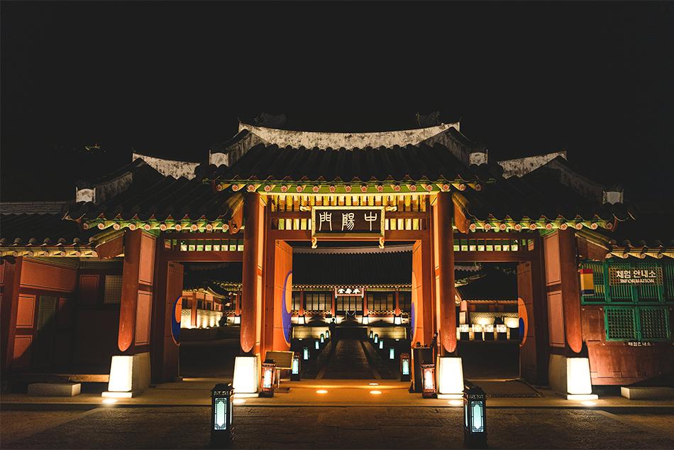 華城行宮の正門·新豊楼