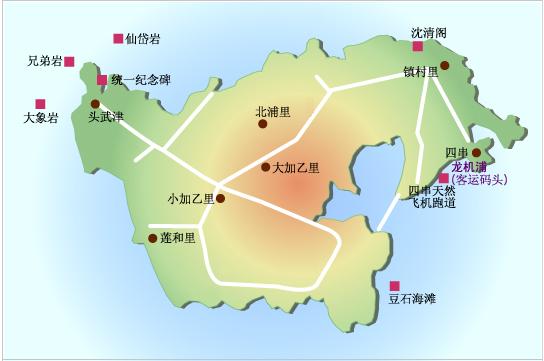 < 白翎岛旅游地图 &gt