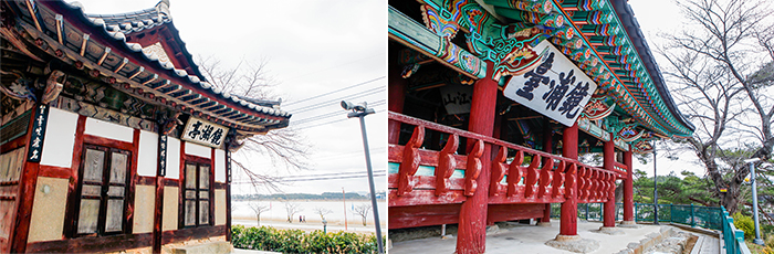 Photo:</strong /> Gyeongpoho Lake's Gyeongpojeong (left) / Gyeongpodae Pavilion (right)