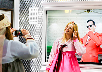 Photo: Hanbok experience program at K-Style Hub