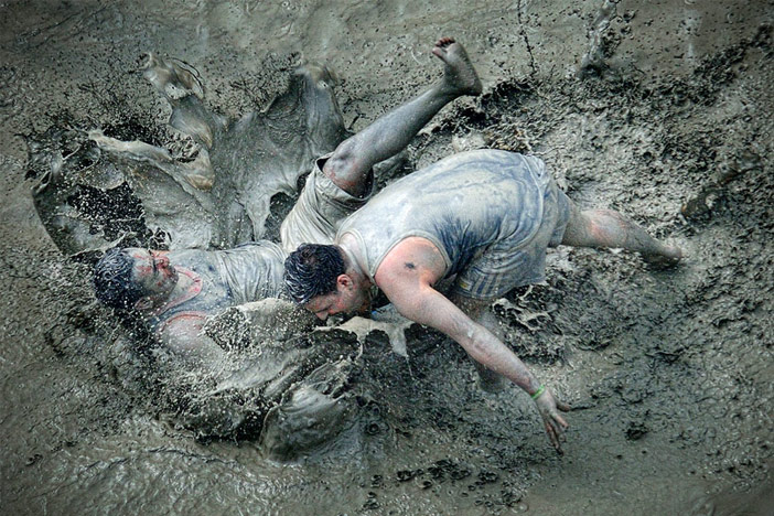 Visitors having fun at Boryeong Mud Festival (Credit: Boryeong Mud Festival Organizing Committee)