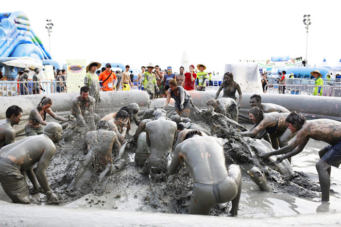 Mud Bath (Credit: Boryeong Mud Festival Organizing Committee)