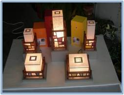 Patchwork Lattice Lamp 1