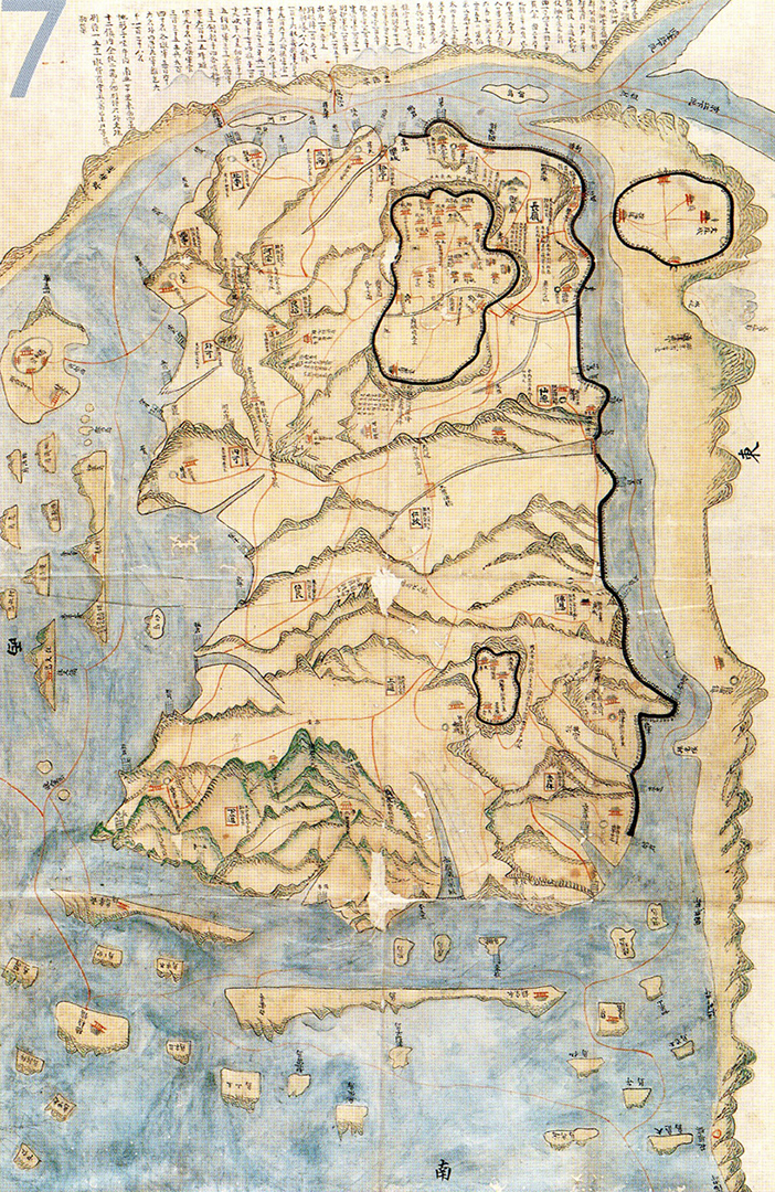 Map of late 18th century Ganghwado Island, 76.X119 cm  (owned by National Library of Korea)