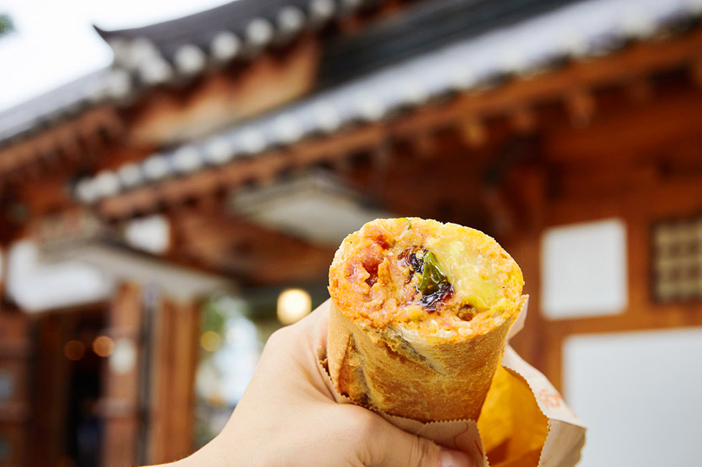 Street foods in Jeonju Hanok Village