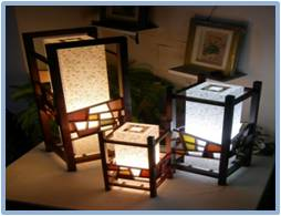 Patchwork Lattice Lamp 2