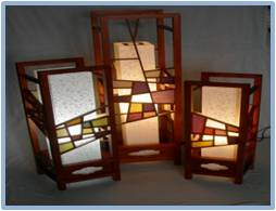 Patchwork Lattice Lamp 3