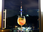 A must-see landmark of Seoul, N Seoul Tower on Namsan Mountain